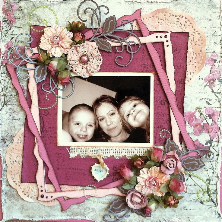 "Layout: Sweet for the ""PINK Challenge""  I really like this  from Rae M (scrapbook.com)"