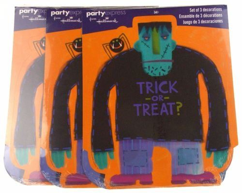 Hallmark Party Express Halloween Trick or Treat Decorations Lot 3 Packs -- For more information, visit image link.