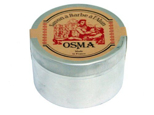 Osma Shaving Soap with Alum and Shea Butter by Osma. $17.95. Handmade in France. 100g shaving puck packaged in a steel container. Contains potassium alum to sooth the skin. Formulated with shea butter for extra moisture. Osma Shaving Soap contains an Alum based formula that is great for preparing the skin for a close, clean shave. This specially formulated shaving soap also contains Shea Butter to hydrate the skin. This shaving soap puck comes packaged in a steel conta...