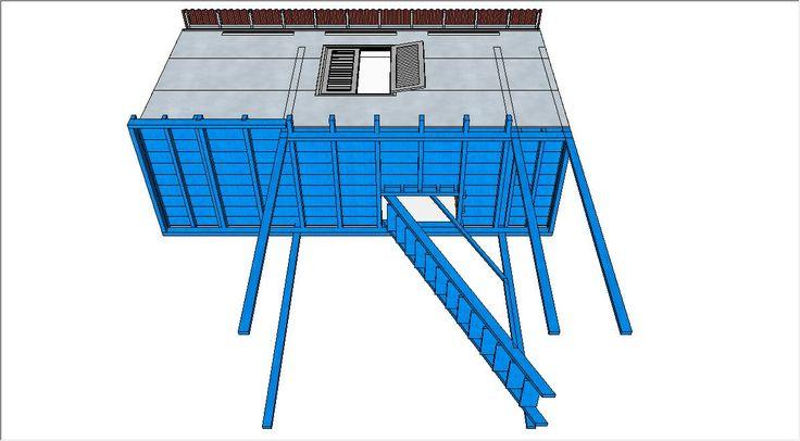 Mezzanine room design using Inkscape #nknproduction
