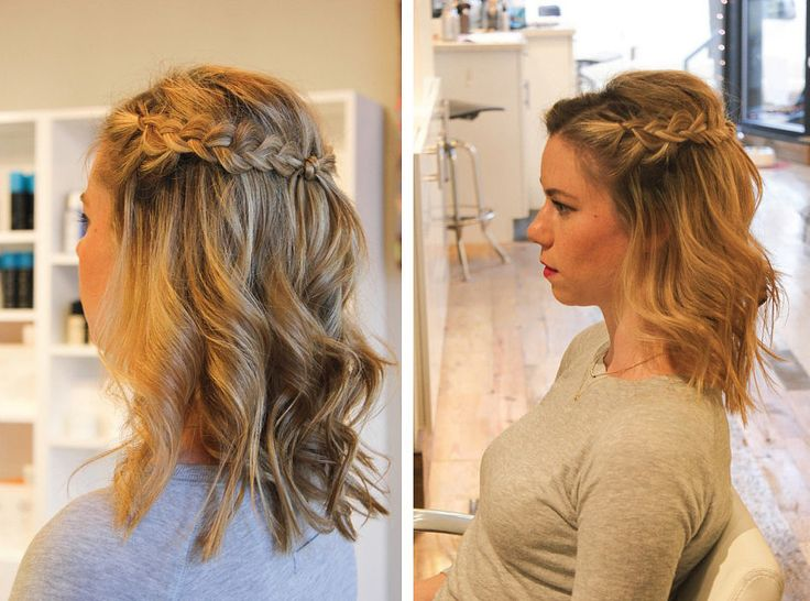 For a festive daytime look, try a half-crown braid. It's bohemian enough to wear to music festivals, and it's also appropriate for office hours. The braids add a romantic, artful touch, while the curls give it a relaxed feel. See the step-by-step process to re-creating the look, created by Defining Delphine.