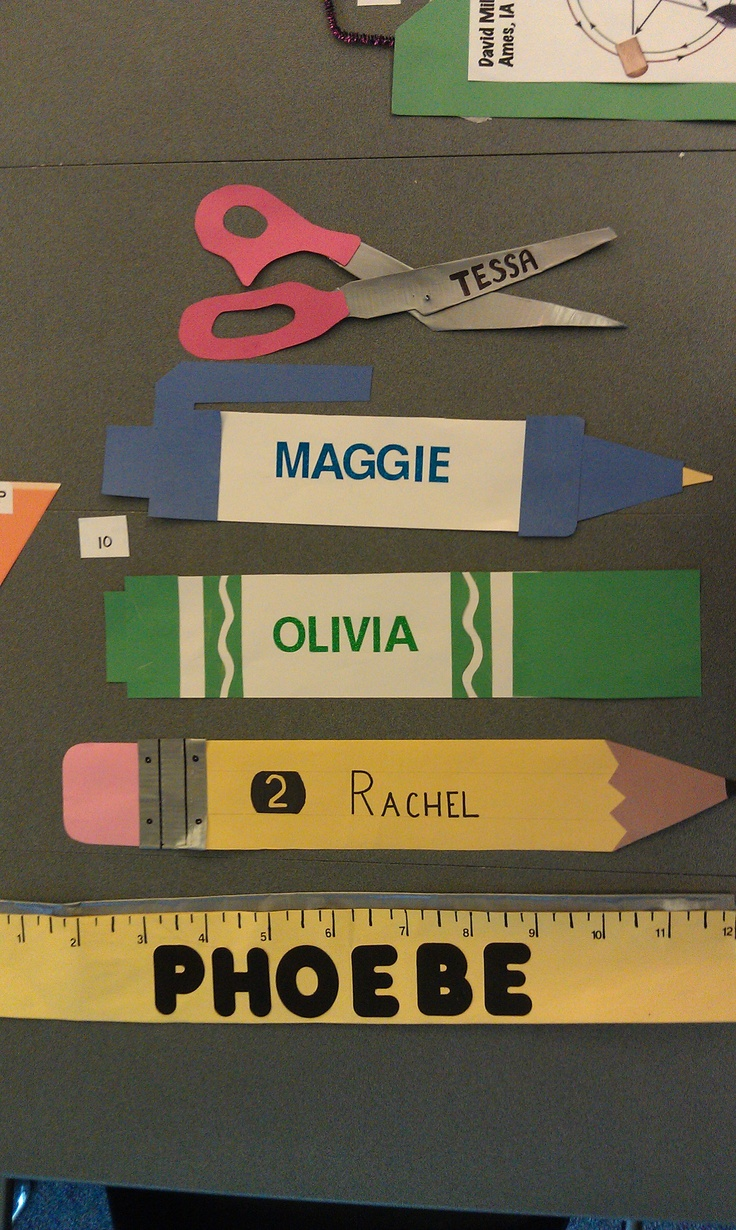 School Supply Desk Dec Creative Name Tags Back To School