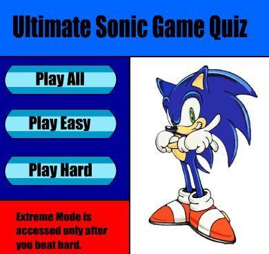 Sonic The Hedgehog Quiz game online