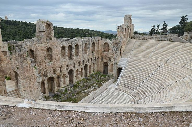 The Odeon of Herodes Atticus in Athens//Odeon of Herodes Atticus, built in 161 AD on the south slope of the Acropolis of Athens in memory of his wife Annia Regilla, Athens, Greece