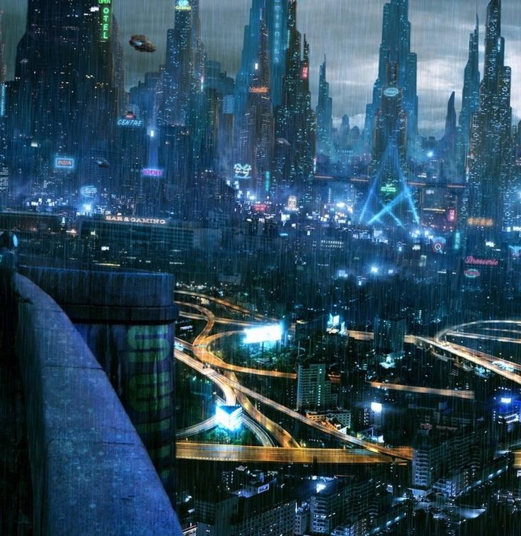 The city that never sleeps Futuristic city, Cyberpunk city