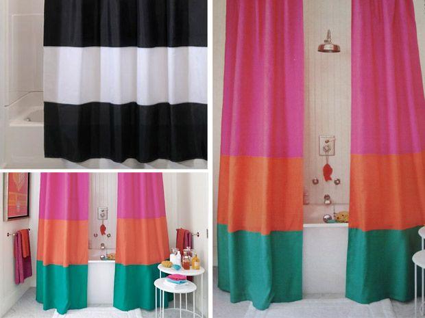 Come creare delle tende doccia con il fai da te - Rubriche - InfoArredo - Arredamento e Design per la tua casa