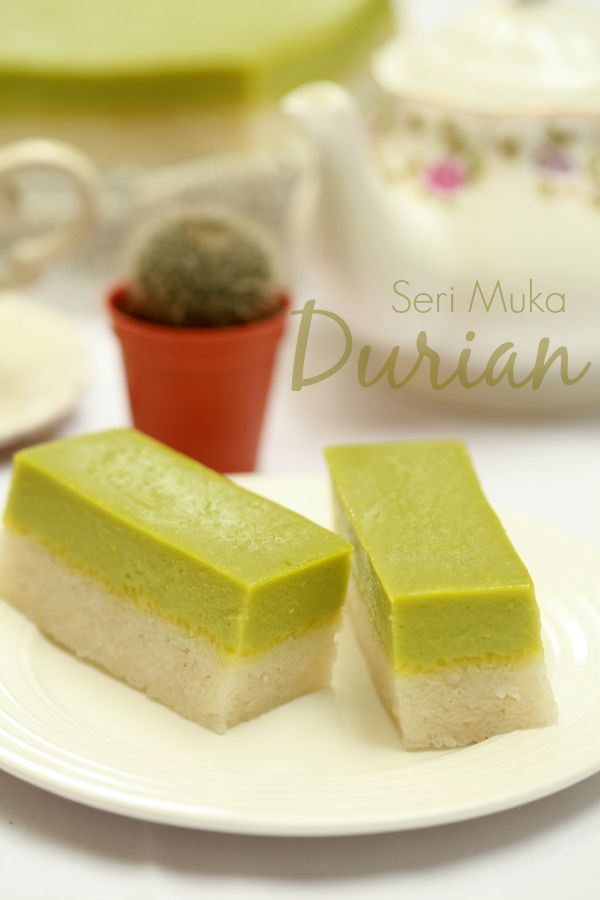 Seri Muka Durian Yang Sangat Sedap Masam Manis Hidangan Penutup Makanan Resep Kue
