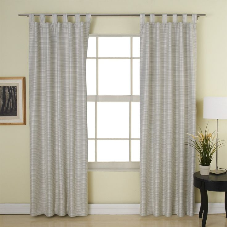 Beige Classic Polyester/Cotton Room Darkening Curtain  #curtains #stripe #modern #cotton #custommade #homedecor #decor