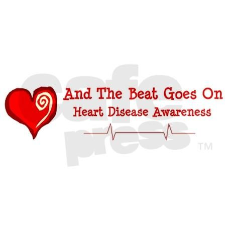 Heart Disease Awareness Bumper Bumper Sticker on CafePress.com