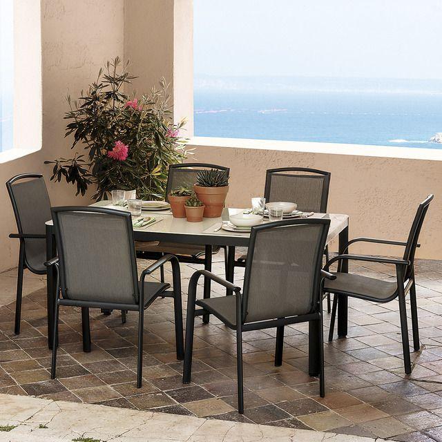 Conjunto de mesa y 6 sillas el corte ingl s lincoln for Mesas y sillas de jardin en el corte ingles