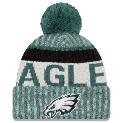 Philadelphia Eagles New Era 2017 Sideline Official Sport Knit Hat - Green