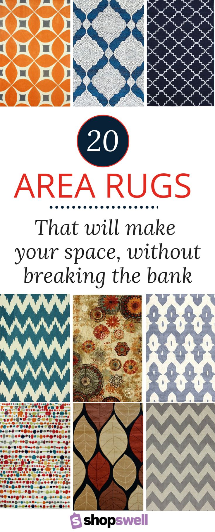 Fabulous, Chic (and Cheap!) Area Rugs