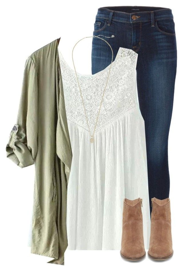 """Watching the voice"" by savanahe ❤ liked on Polyvore featuring J Brand, Steve Madden and Kendra Scott"