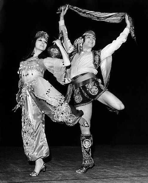 Turkish folklore dancers at the Dance Festival organized by the SadlerWells theatre in London on May 28, 1970