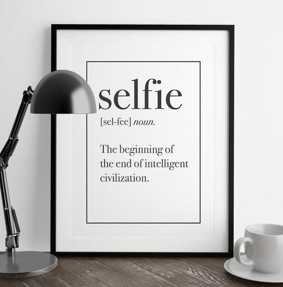 Man Cave Kitchen Meme : Selfie definition print man cave decor art