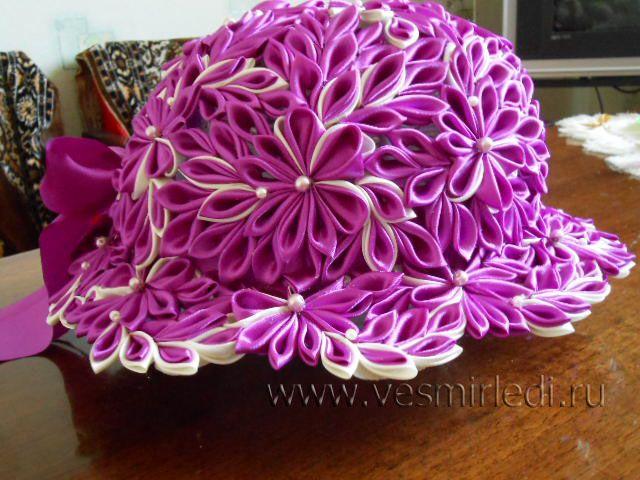 Wow! Kanzashi hat! #kanzashi