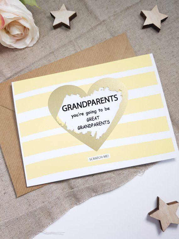 you/'re going to be a grandma scratch card pregnancy reveal announcement cute