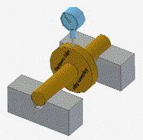 GD&T Circular Runnout Measurement animation