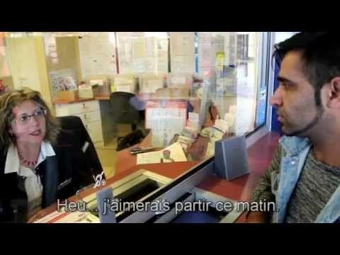 Dialogue FLE ( VOST ) à la gare acheter un billet de train