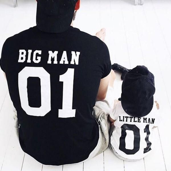 Big Man and Little Man Daddy and Me T-shirt