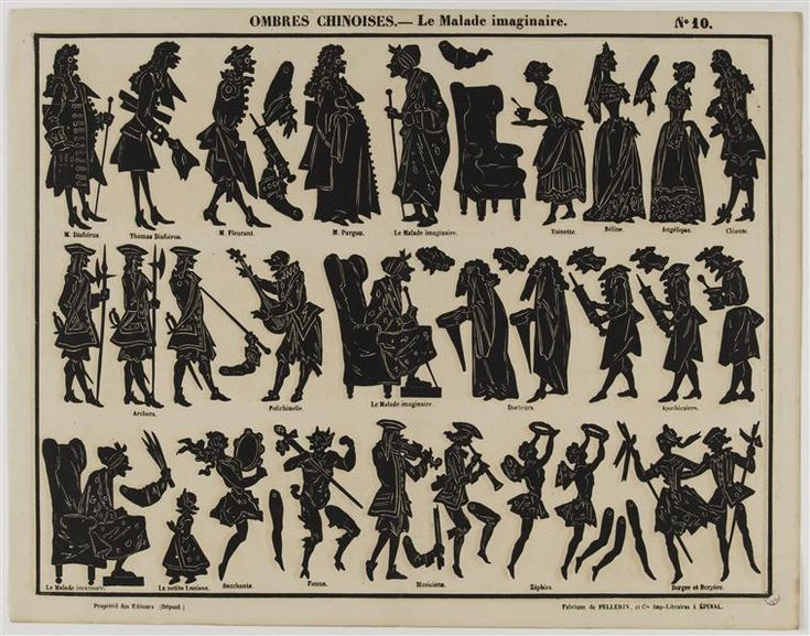 Art populaire Ombres chinoises : le malade imaginaire (C) RMN-Grand Palais (MuCEM) / Franck Raux