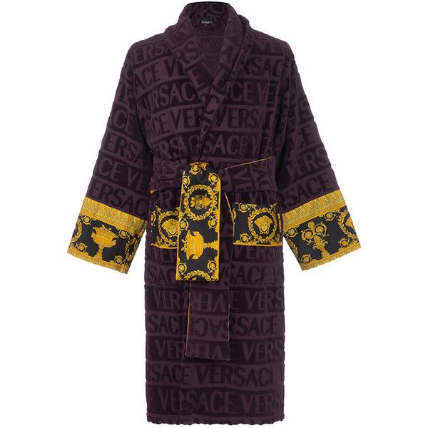 check out cheapest high quality materials Versace Barocco&Robe Bathrobe - Purple (€380) ❤ liked on ...