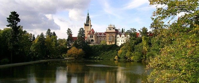 The Průhonice Park - The natural park (the area of 250 hectares) was founded in the year 1885 by the Count Arnošt Emanuel Silva-Tarouca. He took advantage of the miscellaneous valley of the stream Botic and its tributaries, the Dobřejovický and Zdiměřický streams. He introduced both native and woody species to the park. The bases of the park composition were open spaces that he set up in a brilliant way.