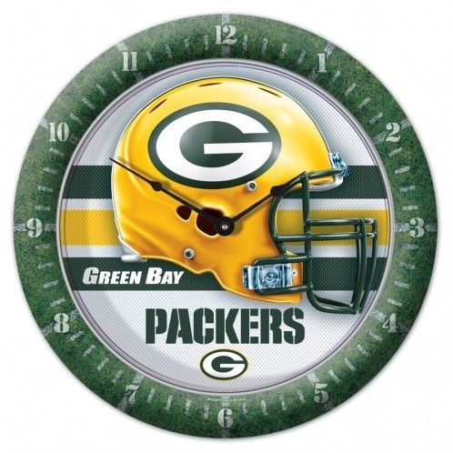 Green Bay Packers Clock - Round - Gametime Style Z157-1094328117