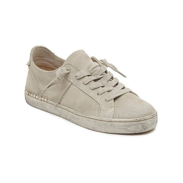 Official Dolce Vita Zalen Sneakers (130 CAD) ❤ liked on Polyvore featuring shoes, sneakers, off white, suede shoes, dolce vita shoes, off white shoes, champagne shoes and suede sneakers