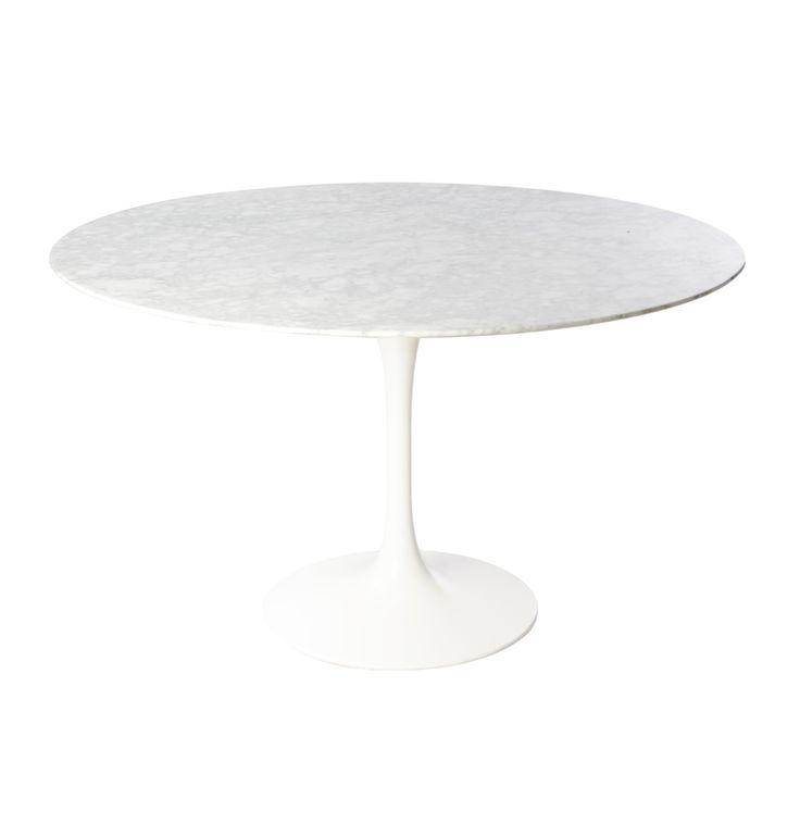 Replica Eero Saarinen Tulip Dining Table Round - Marble by Eero Saarinen - Matt Blatt