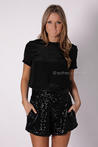 minouge sequin shorts: Clothing Maketh, Dreams Closet, Sequins Shorts, Saia Mini-Sequins, Fashion Fashion, Esther Shops, Minogue Sequins, Black, Sequin Shorts