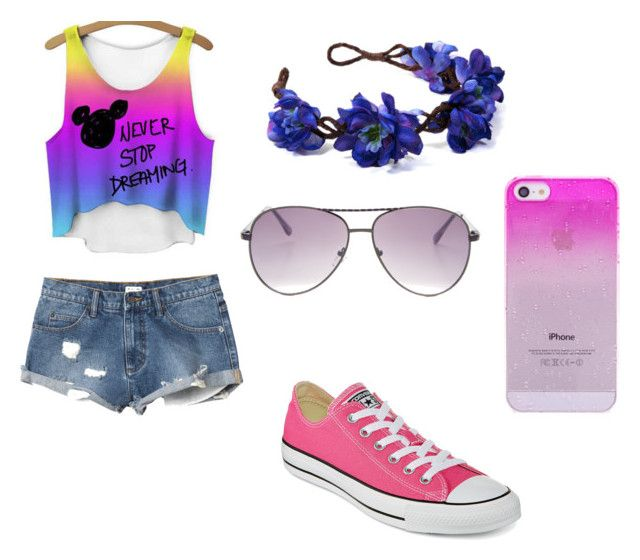 summer by anita-gyulai on Polyvore featuring RVCA, Converse and Steve Madden