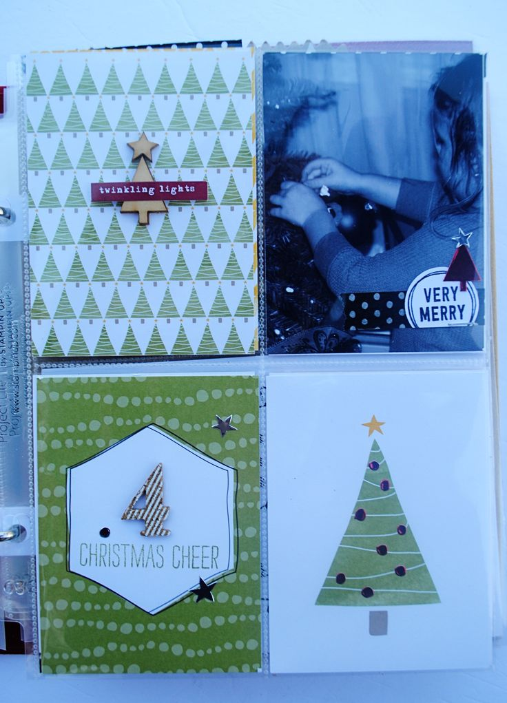 Project Life by Stampin' Up! Hello December collection by Cathy Caines. Perfect for documenting your holidays.