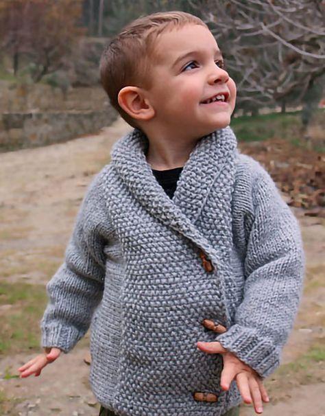 64e086adcf02 Free Knitting Pattern for Crossed Jacket - Child s cardigan jacket ...