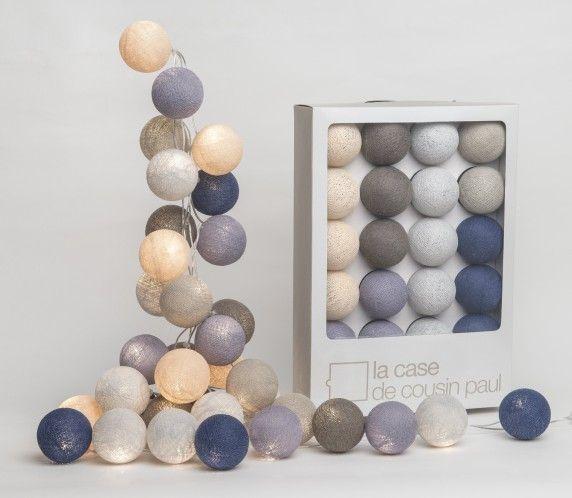 Lichterkette ERQUY grau, blau, beige