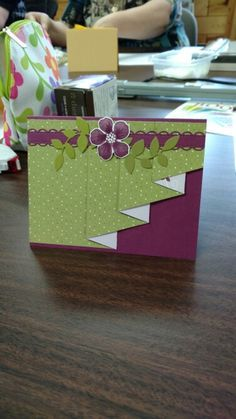 Drapery fold card, beautiful