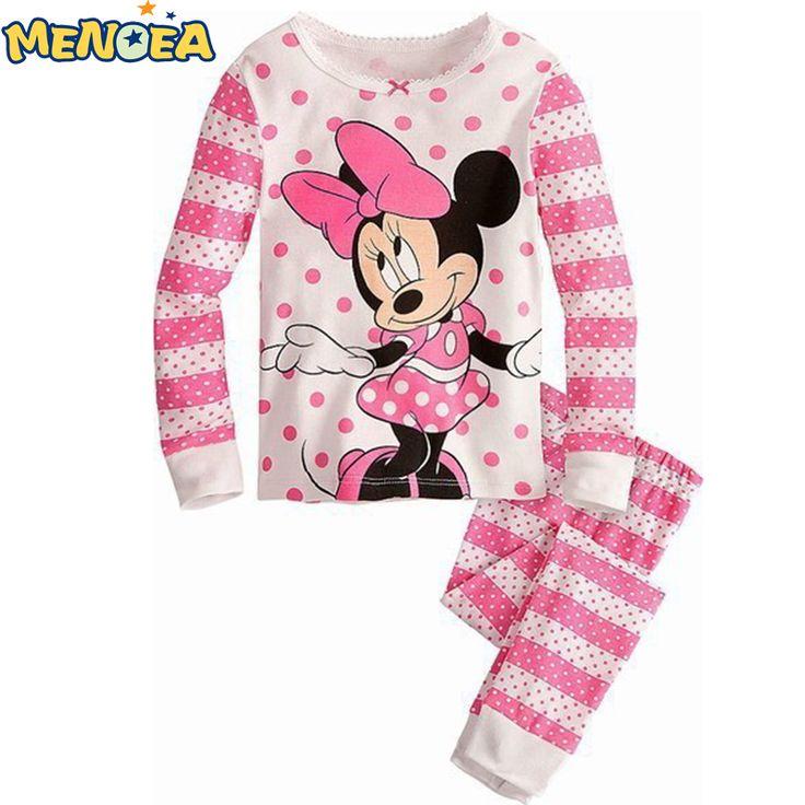 2017 Primavera nuevo estilo del envío libre nuevos pijamas del bebé del algodón personaje lindo niños pijamas niños ropa de bebé 2 unids conjunto