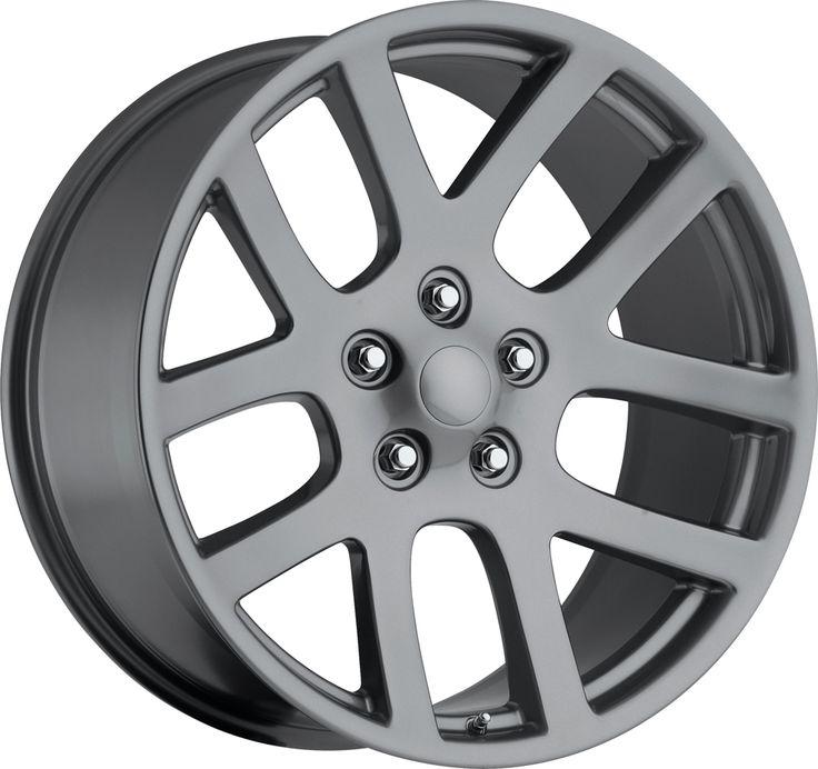 Dodge Ram 1998-2010 20x9 5x5.5  25.4 - SRT10 Replica Wheel -  Comp Gray With Cap