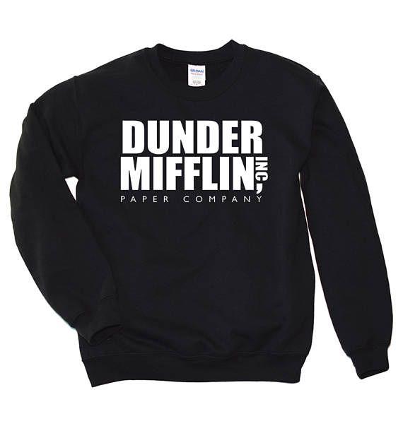 Dunder Mifflin Sweatshirt, Dunder Mifflin Crewneck, Michael Scott Shirt, The Office TV Show Apparel Crewneck