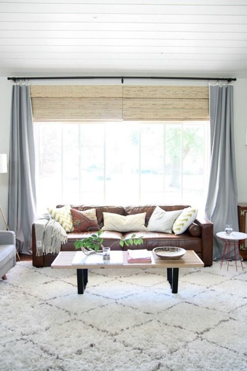 plans for decorating our den den ideasliving room kitchengrey curtainswide window - Window Treatments For Small Living Rooms