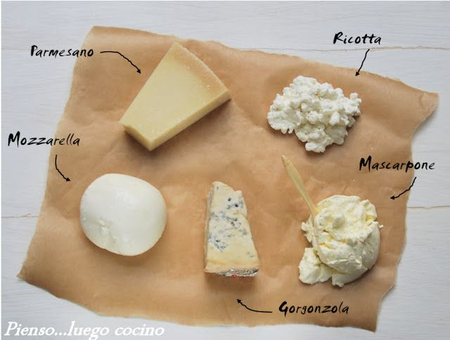 Pienso...luego cocino: Quesos italianos
