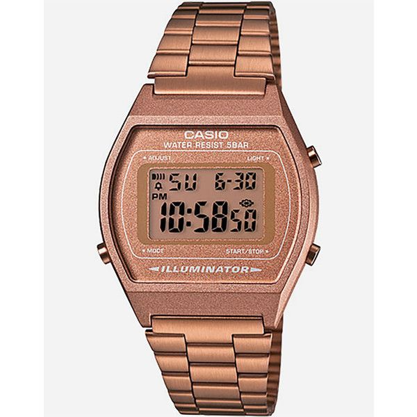 Casio Vintage Collection B640WC-5AVT Watch ($66) ❤ liked on Polyvore featuring jewelry, watches, rose, casio wrist watch, casio, rose watches, water resistant watches and casio watches