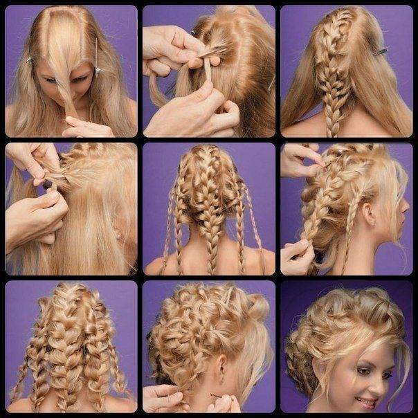 hair braids tutorial looks weird to start but looks pretty at the end.