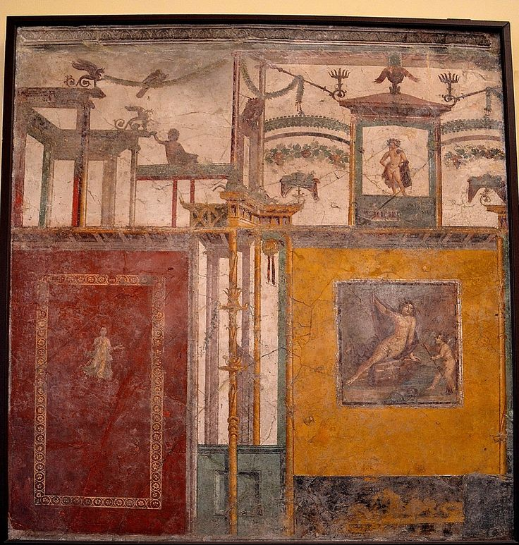 Wall Paint Styles: 313-ROMAN ARCHITECTURE, Fourth Style Wall Painting (c. 20