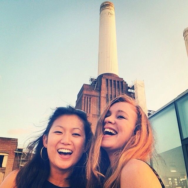 Having a #laugh at the #BatterseaPowerstation for an event.