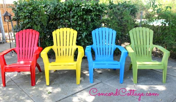 Paint Your Plastic Chairs