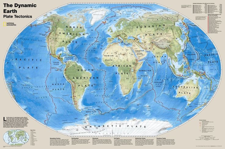 The Dynamic Earth Plate Tectonics Wall Map  Products  Pinterest