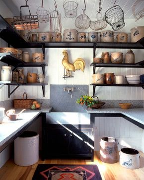 Beautiful Farmhouse Style Pantry With Custom Crown Point Cabinetry Finished In Pitch Black Old Fashioned Milk Kitchenscountry