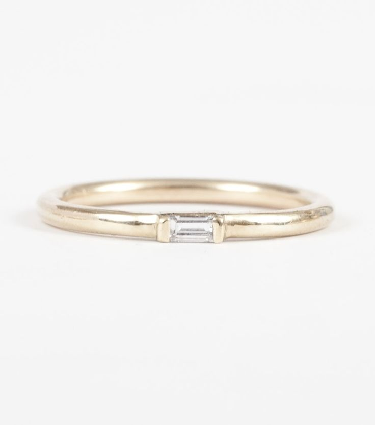 Diamond Baguette Ring, exclusively available at www.catbirdnyc.com.