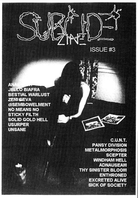 Subcide Zine #3 cover